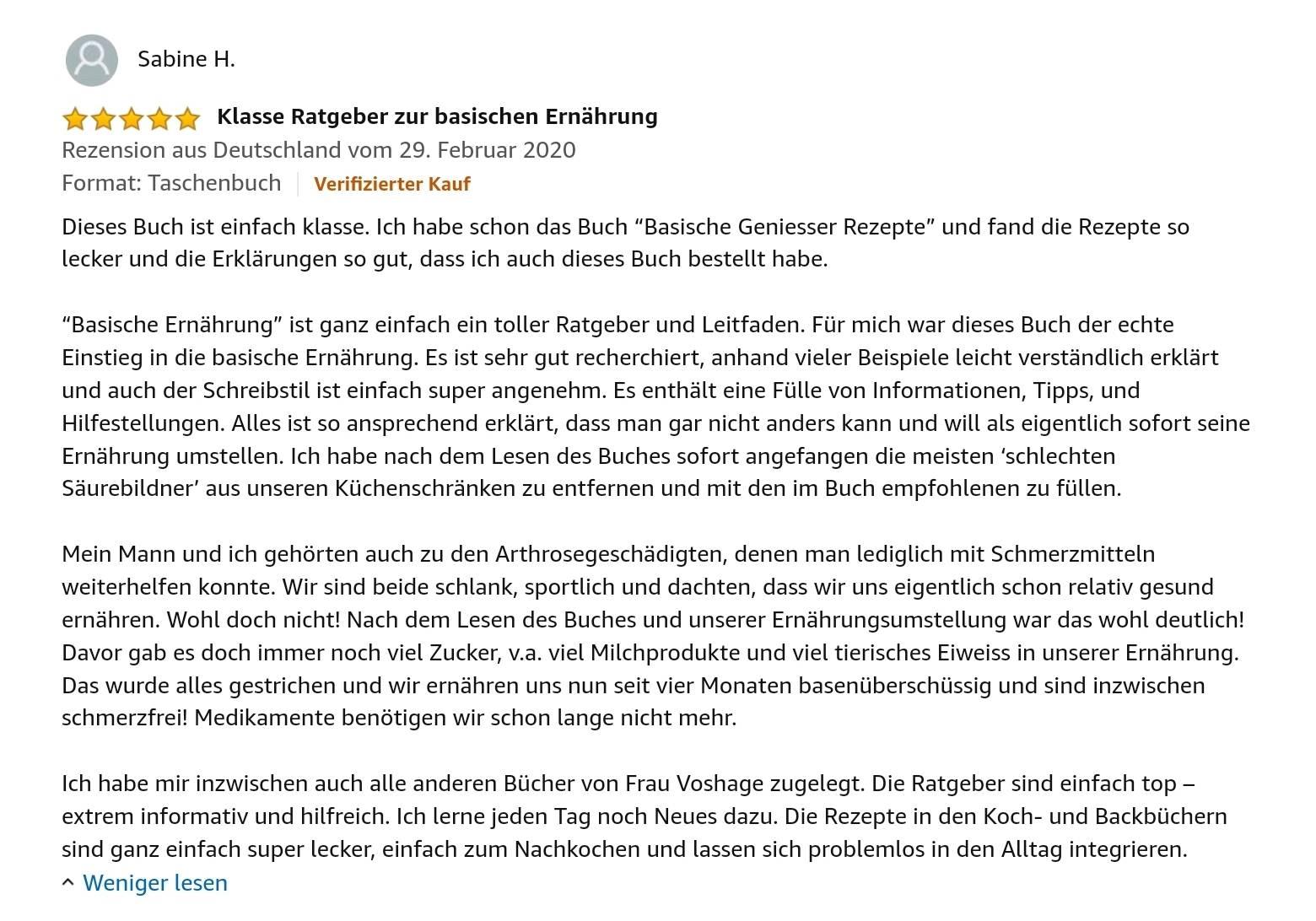 Kundenbewertung Amazon